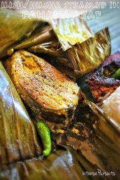 IntensePursuits : Food: bengali new year 1421 [steamed hilsha = ilish paturi]