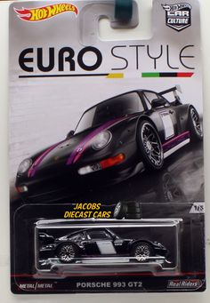 1:64 HOT WHEELS CAR CULTURE EURO STYLE - PORSCHE 993 GT2 1 of 5 * DJF77-956B #HotWheels #Porsche