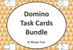 Domino Task Cards Bundle https://www.teacherspayteachers.com/Product/Domino-Task-Cards-2039854 #math #dominomath #bundle #domino #TaskCards #scoot #tpt #teacherspayteachers #mathematics