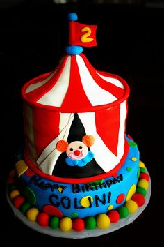 Circus Tent Cake by buttercakes_by_evan via Flickr & circus tent cake cupcake pan - Google Search | Birthday Party ...