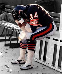 Walter Payton - Chicago Bears - His last game (Jan 10, 1988) Class Act!