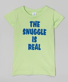 Key Lime 'The Snuggle is Real' Tee - Toddler Girls & Women