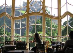 Starbuck's, Edinburgh. ༺✿༺ A view of Edinburgh Castle from the upper floor of Starbuck's.