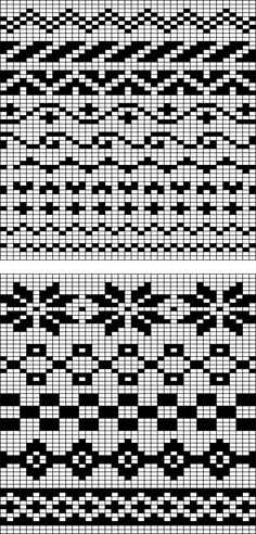 Image: Fair Isle chart pattern possibilities. | Knitting For Dummies