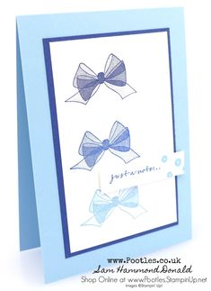 #1 Stampin' Up! Demonstrator Pootles - Wishing You Well DistINKtive Stamping Quick Card
