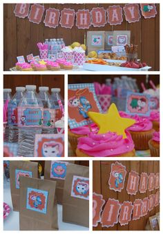 Sheriff Callie's Wild West Birthday Party Printable set. $14.25 DIY Decorations, invitations, cupcake toppers, birthday banner, water bottle labels, favor tags and more.