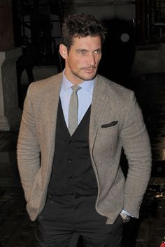 Model David Gandy attends the Evening Standards Top 1000 Most Influential of London at The London Transport Museum on November 9, 2011 in London, England.  (November 7, 2011 - Photo by Ben Pruchnie/Getty Images Europe)    https://www.facebook.com/OfficialDavidGandy