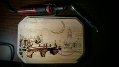 Can't tell you how much I'm enjoying this piece!  #pyrography #woodburning #christmas #handmade #etsy #etsyshop