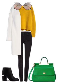 ⛅️ by betti-nyilas on Polyvore featuring polyvore, fashion, style, H&M, Acne Studios, 7 For All Mankind, Alexander Wang, Dolce&Gabbana and Linda Farrow