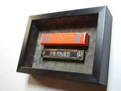 Custom Framed Harmonica Shadow Box.