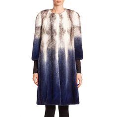 The Fur Salon Degrade Mink Fur Coat ($5,996) ❤ liked on Polyvore featuring outerwear, coats, the fur salon, mink lined coat, fur-lined coats, mink coat and mink fur coat