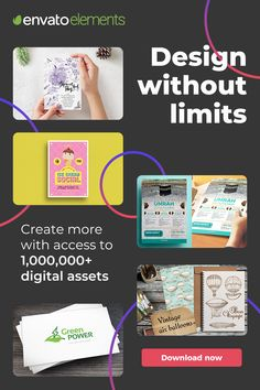 Over a Million Creative Assets! Hey this is a GREAT place to build your website today -- try it now! Web Design, Graphic Design Tips, Blog Gratis, Make Money Online, How To Make Money, Seo Blog, Design Thinking, Personal Branding, Business Tips
