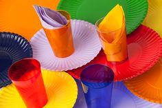 Una mesa de colores ..... Una mesa alegre