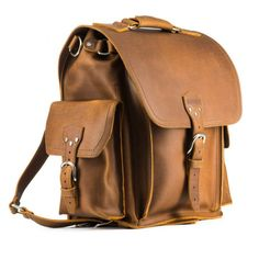 2d12c102dd Squared Leather Backpack. Stylish BackpacksCool ...