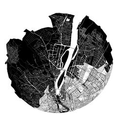 Places in the city emotionally 'closer' visualised and sonified by Kitchen Budapest Architecture Site, Architecture Drawings, Masterplan Architecture, Architecture Diagrams, Architecture Portfolio, Map Design, Graphic Design, Map Diagram, Map Projects