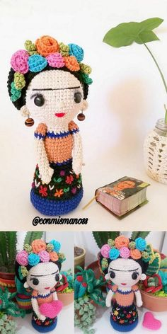 In this article we will share free amigurumi dolls crochet patterns. Everything about Amigurumi is what you're looking for. Crochet Doll Pattern, Crochet Patterns Amigurumi, Amigurumi Doll, Crochet Dolls, Knitting Patterns, Diy Crochet, Crochet Crafts, Crochet Projects, How To Start Knitting
