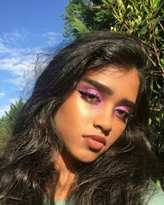 Before the big bang all the atoms in the universe were smashed together into one little dot that exploded outward. Makeup Goals, Makeup Inspo, Makeup Art, Makeup Inspiration, Makeup Tips, Beauty Makeup, Eye Makeup, Hair Makeup, Hair Beauty