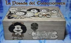 Caja Mafalda! Caja pirograbada hecha a mano!  fb.com/laposada.delcoleccionista