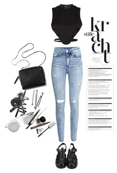 """""""Untitled #311"""" by rigersa3 ❤ liked on Polyvore featuring Morgan, H&M, BOBBY, Christian Dior and Arche"""