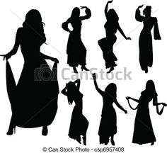 Vector - Belly dancers - stock illustration, royalty free illustrations, stock clip art icon, stock clipart icons, logo, line art, EPS picture, pictures, graphic, graphics, drawing, drawings, vector image, artwork, EPS vector art