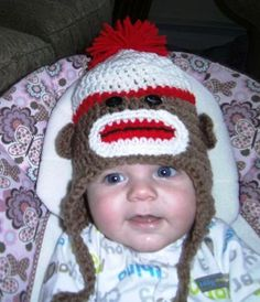 I don't know who is cuter, the hat or the baby!!! Both are adorable!!!