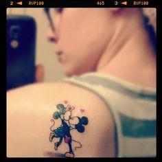 Minnie & Mickey Mouse Tattoo.