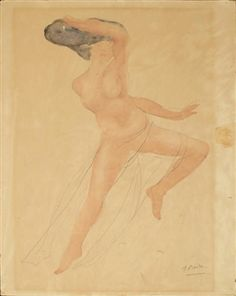 Nude Study By Auguste Rodin