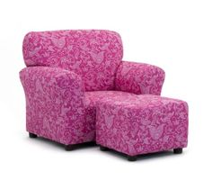 Kidzworld Kids Children Small Paisley Candy Pink Club Chair and Ottoman Set *** Details can be found by clicking on the image.Note:It is affiliate link to Amazon.