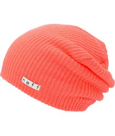 Stand out in a vibrant neon coral colorway with an oversized slouchy fit for casual style.