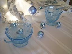 Mayfair blue depression glass