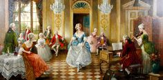 CHARLES WILLIS (early 20th century) - Soiree