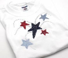 4th of July Shirt made out of crystals
