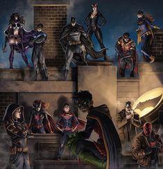 Imaginary Gotham - The art of Batman and his Universe. Batwoman, Nightwing, Batman And Catwoman, Batman Comic Art, Gotham Batman, Batman Poster, Joker Dc, Robin Dc, Batman Robin