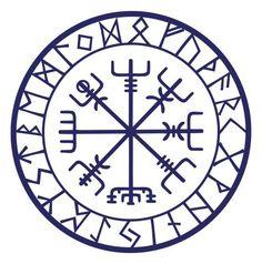 Viking protection runes vegvisir compass talisman by sparrowhawk9