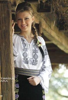 Posts about costume traditionale romanesti on Romania Dacia romanian women traditional clothing rumänien roumains rumeni traditions Tween Fashion, Ethnic Fashion, Fashion Outfits, Folk Costume, Costumes, Romanian Women, European Girls, Beauty Full Girl, Traditional Dresses