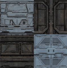 sci fi production design | Each texture is provided in three versions: