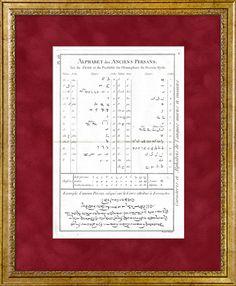 The alphabet of the ancient Persians (Iran).  Antique prints, con.  18.