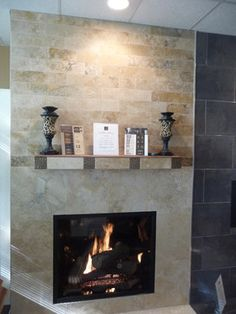 Contemporary Fireplace Design Ideas, Pictures, Remodel, and Decor - page 15 Tv Above Fireplace, Fireplace Redo, Small Fireplace, Fireplace Remodel, Fireplace Makeovers, Fireplace Ideas, Fireplace Mantels, Contemporary Fireplace Designs, Modern Contemporary Homes