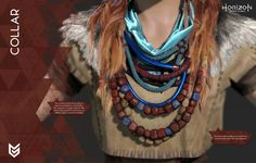 Colllor of Aloy, female character from the game Horizon Zero Dawn (Guerrilla Games), cosplay guide.