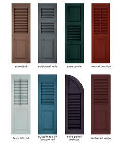 Home Depot Plastic Shutter Colors | With Vinyl Shutters, Color ...