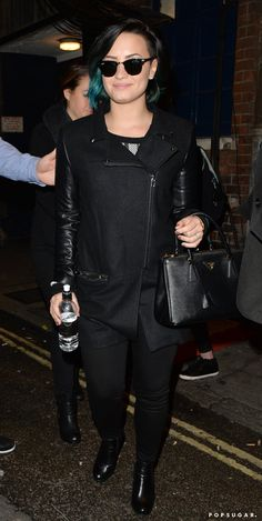 Pin for Later: Can't-Miss Celebrity Pics!  Demi Lovato wore her sunglasses at night on Wednesday in London.