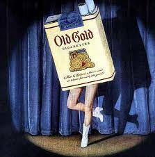 vintage ad.  back when cigarettes could dance.