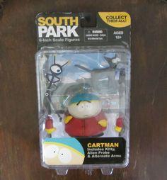 south park cartman figure 2011 mezco extra hands cat probe new in orig packaging #mezco
