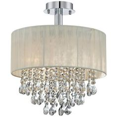 Ivory Shaded Chandelier Crystals