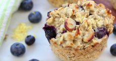 Lemon Blueberry Oatmeal Muffins are a wholesome breakfast option. Clean & Delicious with Dani Spies Baked Blueberry Lemon Oatmeal Muffin Cups – Clean & Delicious w Blueberry Oatmeal Muffins, Blue Berry Muffins, Blueberry Breakfast, Lemon Muffins, Oat Muffins, Protein Muffins, Oatmeal Cups, Baked Oatmeal, Pumpkin Oatmeal