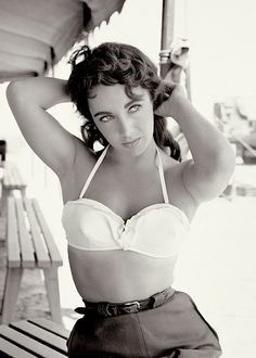 Elizabeth Taylor photographed by Frank Worth on the set of Giant (1956)