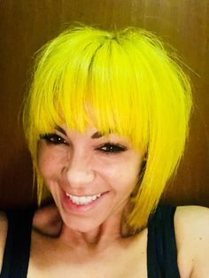 #yellowhair #brighthair Different Hair Colors, Yellow Hair, Bright Hair, Spice Things Up, Your Hair, Colour, Blonde Hair Colour, Color, Calla Lily