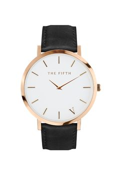 ONE WATCH. TWO STRAPS. That's two looks for the price of one. Classic styling in an ultra-thin casing. Two coloured straps to play with: both rich brown and deep black leather straps. Changing them over is simple. The Tribeca comes with a polished rose gold case and rose gold indexing. It's the little details. More fine. More dandy.