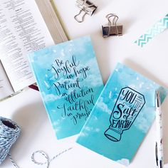Prayer Journal Set Of 2 Notebooks - Lined and Plain Notebooks - Hand-lettered designs - Prayer Journals -