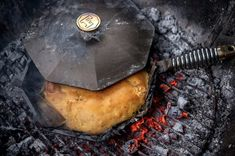 Bibingka a scrumptious Filipino coconut-rice cake. Cooked and served in a FINEX Skillet, it brings some of the best Filipino flavors to your table. Cured Egg Yolk, Edam Cheese, Open Fire Cooking, Clay Oven, Salted Egg, Cast Iron Recipes, Snack Recipes, Snacks, Coconut Rice